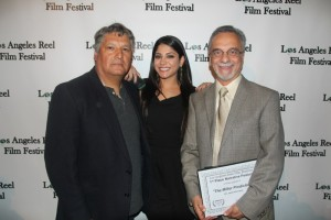 Cyrus Parvini- Producer, Javier Ronceros- Dirctor with Tala Delvarani - Lead Actress ( Layla )
